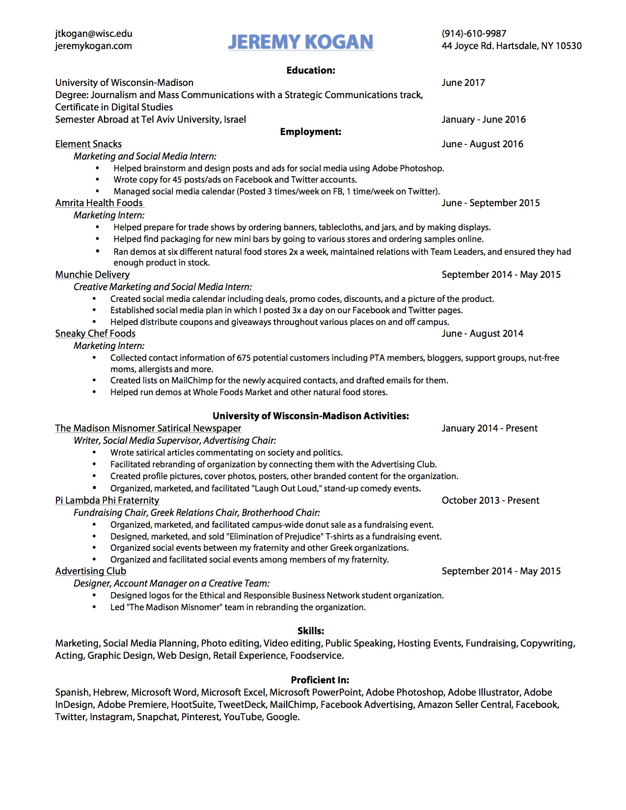 Resume Welcome To My Website